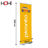Best quality roller up banner 85x200 doubl side roll up banner stand digit pull up banner display