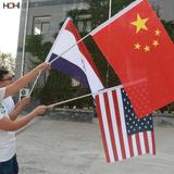 factory wholesale custom national pvc flag