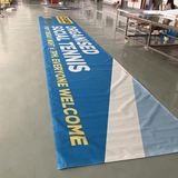 Wholesale Custom polyester banner flag for outdoor advertising street pole banner