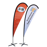 Advertising Usage and Flying Style wholesale feather teardrop flag vinyl banners for sale