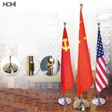 2m 2.6m 3m stainless steel & aluminum flagpole mirror polished straight office indoor flag pole