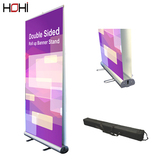 Hot sale acrylic neon display stands bestar curtain salon poster stand banners horizontal stand