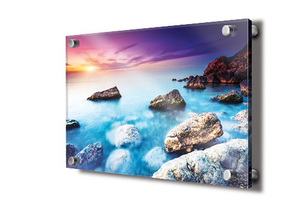 High quality custom acrylic board UV printing picture with screws hanging on the wall