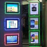 Customised aluminium frame LED light box banner for sale