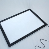 Customized size acrylic frameless led backlit slim acrylic crystal lightbox from HOHI