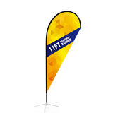 Best quality outdoor advertising flying teardrop flag banner